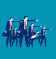 business team leadership concept business vector image vector image