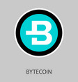 bytecoin cryptocurrency virtual money symbol of vector image