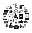 call on business icons set simple style vector image vector image