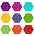 car door icons set 9 vector image vector image