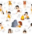 caveman kids primitive children character vector image