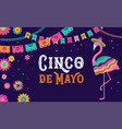 cinco de mayo mexican fiesta banner and poster vector image