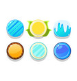colorful glossy balls set shiny buttons game vector image vector image