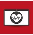 computer digital healthcare pulse heart vector image