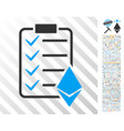 ethereum smart contract flat icon with bonus vector image vector image
