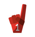 foam finger icon image vector image vector image
