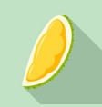 fresh piece of durian icon flat style vector image vector image