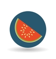 fruit over circle design vector image vector image