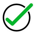 green tick icon on white background green check vector image