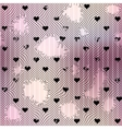 Holey mesh with hearts vector image