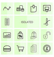 isolated icons vector image vector image