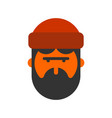 lumberjack face woodcutter head lumberman with vector image vector image