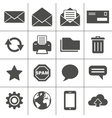 Mail icons set - Simplus series vector image vector image