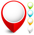 map marker map pin icon in 5 colors vector image vector image