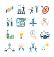 Mentoring Icons Flat Set vector image vector image