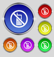 mobile phone is prohibited icon sign Round symbol vector image
