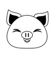 pig cute animal cartoon icon image vector image