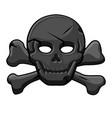 pirate black mark skull with cross bones vector image vector image