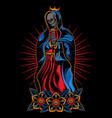 praying skull vector image vector image