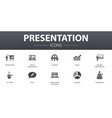 presentation simple concept icons set contains vector image vector image