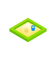 Sandbox on a playground isometric 3d icon vector image vector image