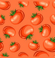 seamless pattern with red ripe tomato vector image