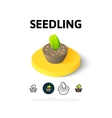 Seedling icon in different style vector image vector image