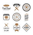 set bakery and bread logos labels badges or vector image vector image