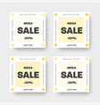 set white web banners for big and mega sale vector image vector image
