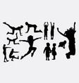 sport woman training silhouette vector image vector image