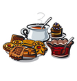 tea and cookies vector image vector image