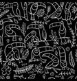 toucans paradise tropical bird seamless pattern vector image vector image