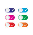 touch button check mark touch button yes or no vector image vector image