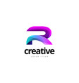 vibrant trendy colorful creative letter r logo vector image vector image