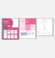 website design template business project vector image