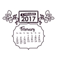 Calendar of 2017 year design vector image