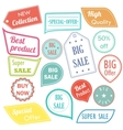 Modern flat design sale stickers Sale hipster vector image