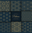 abstract dark patterns pack in floral style in vector image