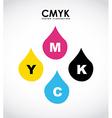 cmyk design vector image