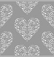 navajo heart shape ornament seamless vector image