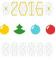 2016 christmas new year greeting card balls vector image