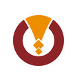 abstract circle logo circle logo design vector image