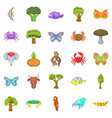 african animals icons set cartoon style vector image vector image
