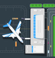 airport top view concept in flat design vector image vector image