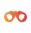 Binocular sign Orange applique vector image