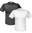 Black and white Tshirt Front View vector image vector image