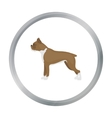 Boxer dog icon in cartoon style for web vector image vector image