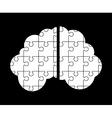 brain puzzle vector image vector image