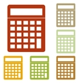 Calculator simple sign vector image vector image