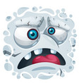 cartoon funny cute stone monster character vector image